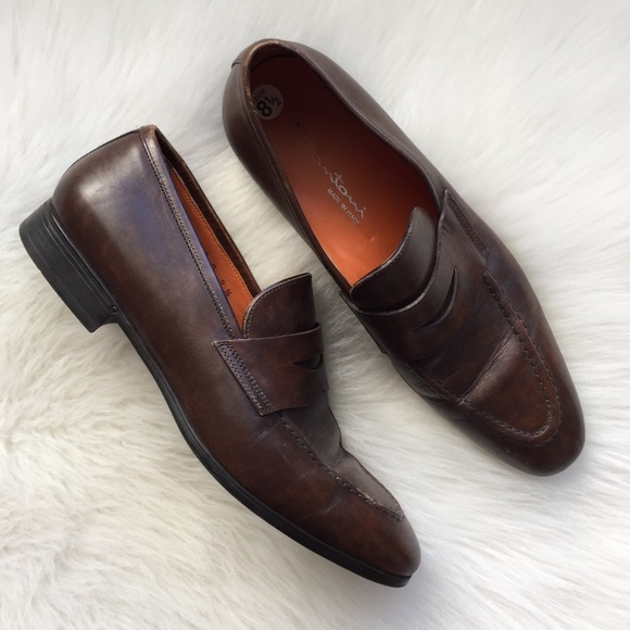 santoni shoes loafers slip on italian dress 85 poshmark